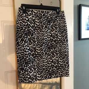 Jcrew Leopard print pencil skirt